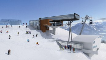 Neubau der Flying Mozart Bergstation in Wagrain im Snow Space Salzburg | © Snow Space Salzburg
