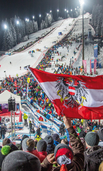 Action of the World Cup in Flachau